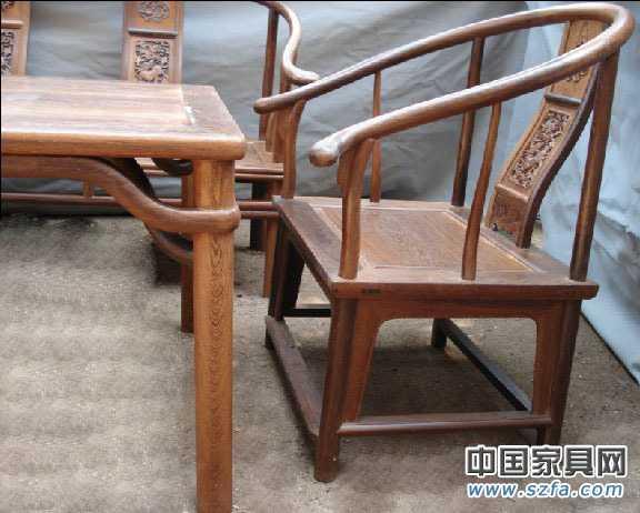 红酸枝鸡翅木红木圈椅沙发8件套