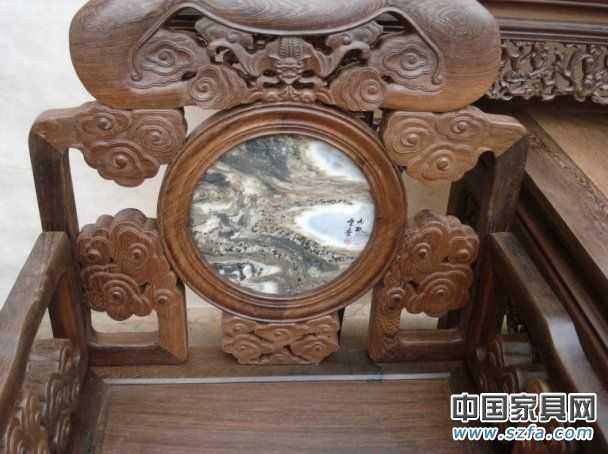 灵芝中堂红木仿古家具四件套