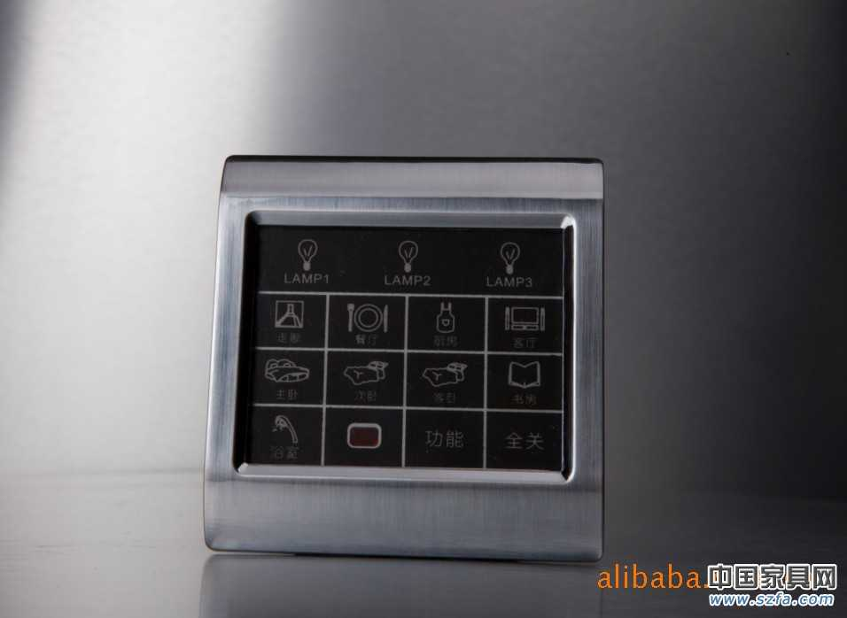 欧璐智能灯光控制触摸屏开关套房系列
