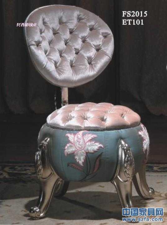 阿西娜欧式梳妆靠凳 换鞋凳 公主化妆凳 客厅休闲坐凳
