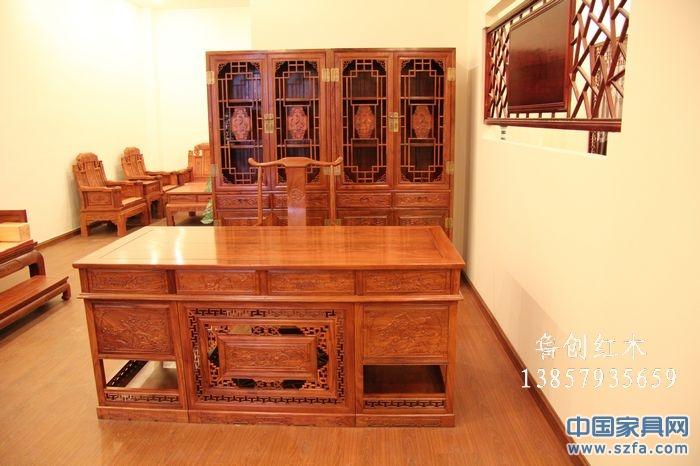 鲁创红木精品馆-办公桌