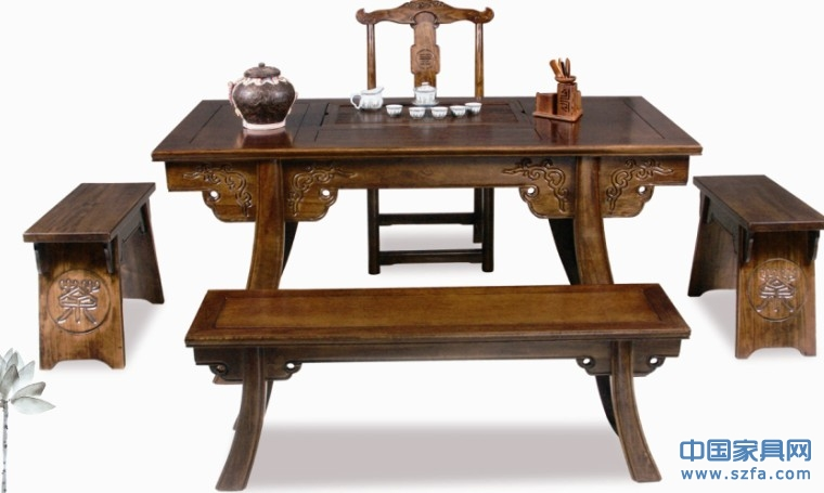 一品茶艺|功夫茶桌|实木茶桌|仿古茶桌|茶家具|茶水