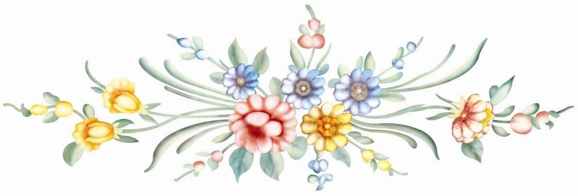 家具水移画手绘花
