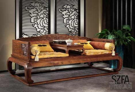 321中式实木沙发
