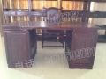 仙游红景天红木家具厂印度小叶紫檀办公桌 四件套
