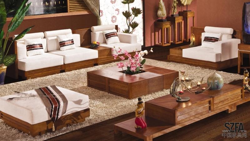 东南亚风格实木水曲柳家具