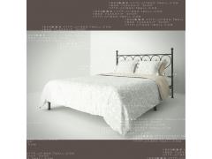 阿维尼亚W001地中海家具床无尾床双人床单铁艺拉微图片
