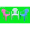 白色塑料椅子,蓝色塑料休闲椅,红色塑料沙滩椅