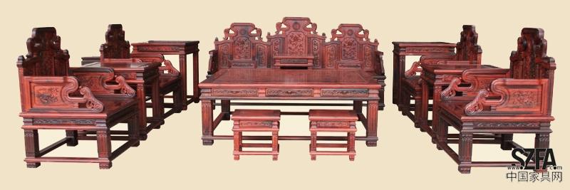 """广州洋花宝座沙发#工艺流程""""明式古典""""系列红木家具"""