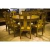 供应臻粹阁金丝楠木餐桌圆桌九件套,金丝楠木古典家具