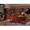 瀚晟堂瀚尊如意书房家具,新中式红木书柜,红木书桌,红木书椅
