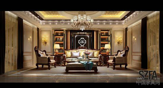 本案为金富丽集团旗下品牌,尊贵系列金沙展厅的局部空间,硬装主体以白调衬托出家具的工艺材质,金色线条则打破了单调的纯白氛围,主背景则采用浅色石材,精致的装饰柱,细腻的发光logo使其成为整个空间的特别之处,而在挂镜线以上的浮雕以及天花顶部的欧式花格,以各种细节的角度去诠释产品的高贵典雅风格。