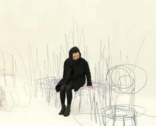 """将草稿线条形状的家具设计作品创意""""真实""""呈现"""
