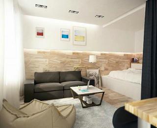 小空间里的创意 木质与黑白打造时尚简约空间
