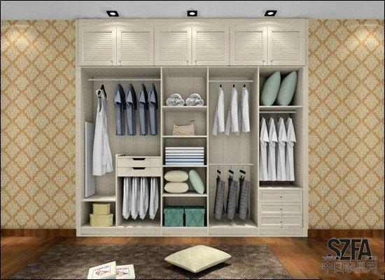 嵌入式衣柜是指在房屋进行装修的时候即将衣柜嵌入到到墙面里,也就是