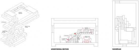 建筑空间结构示意