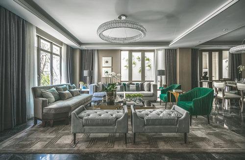 谈起中航上城的这套别墅设计,布鲁盟室内设计的创意总监邦邦表达很