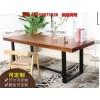 销售实木办公桌 会议桌 欧美工业风桌椅广州哪里便宜