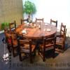 老船木实木餐桌中式船木功夫茶几茶桌茶台特价客厅高档茶桌椅