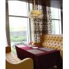 咖啡厅洽谈桌椅组合现代简约休闲皮艺双人卡座沙发