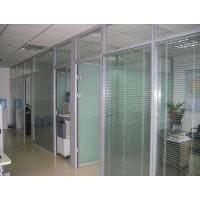 武汉玻璃隔断,武汉高隔间,办公室玻璃隔断,双玻带百叶玻璃隔断