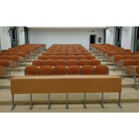 固定式连体培训桌椅,广东佛山鸿美佳厂家定制培训室培训桌椅
