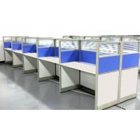 简约钢木家具电脑桌职员工位电话销售桌