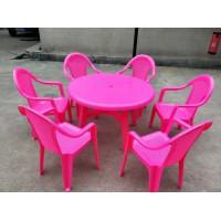 2019年临沂塑料桌椅生产厂家,塑料桌子,塑料椅子