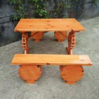 木屋烧烤餐桌椅供应商,松木实木餐桌,长条桌子大台