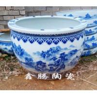 供应陶瓷大缸 手绘青花陶瓷缸 景德镇陶瓷缸