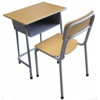 E1级钢木结构可升降单人双人课桌椅