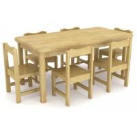 河北木质幼儿桌椅课桌椅图片厂家