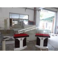 工商银行收藏品展示柜定制厂家木制烤漆银行展柜展台