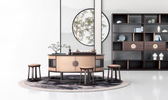 中式客厅2017LN中式茶室