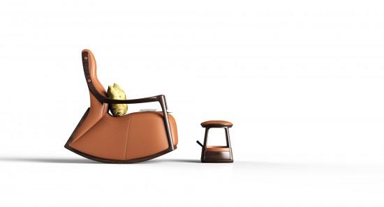 中式客厅LN-X摇椅