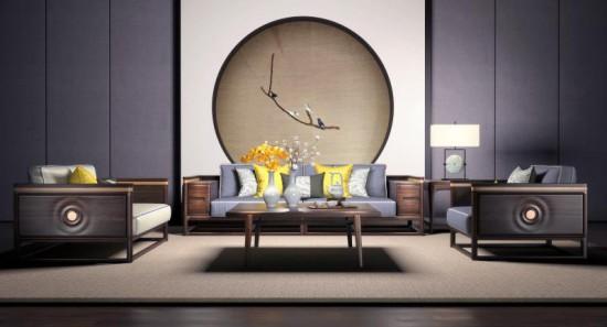 河北蓝鸟家具中式客厅
