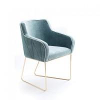 北欧沙发椅新款|咖啡厅休闲椅子|高档布艺单人沙发椅|深圳厂家