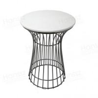 北欧大理石阳台小圆桌边几客厅圆形角几沙发床简约创意铁艺小茶几