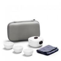 13头高白陶瓷器功夫茶具套装 薄胎高温盖碗