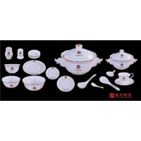 高档会所陶瓷餐具 单位专用陶瓷餐具 景德镇酒店餐具定做厂家