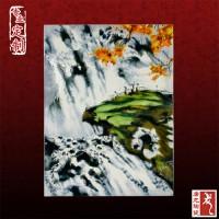 定制中式青花瓷板画墙壁装饰