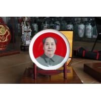 景德镇陶瓷纪念盘定做 公司庆典战友聚会纪念礼品