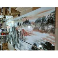 大型户外陶瓷壁画 风景画 景德镇厂家