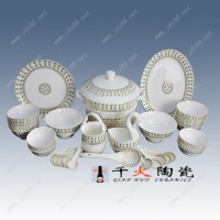 景德镇陶瓷餐具厂家 加图案餐具定制