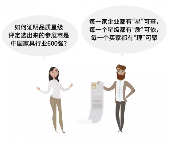 如何证明品质星级评定选出来的参展商是中国家具行业600强?
