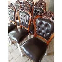 实木花头椅