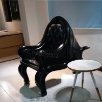 专业定制玻璃钢休闲椅简约现代动物造型犀牛椅会客沙发洽谈休息椅