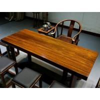 安东-福州专业的奥坎实木茶桌椅组合,认准中达木业